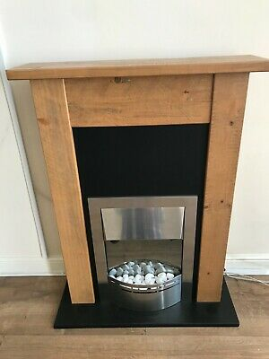 £150 • Buy Solid Oak Fireplace With Dimplex Electric Fire