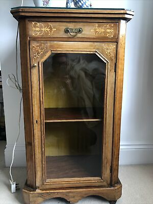 £75 • Buy Pretty Victorian Music Cabinet, Mahogany, Glass Fronted