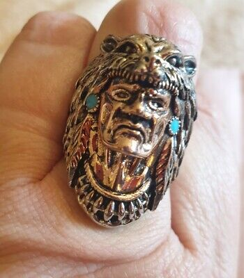 £15 • Buy Native American Indian Chief Head Ring