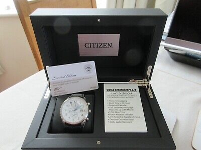 £240 • Buy Limited Edition! Citizen World Chronograph No: 241/2500. Atomic Timekeeper. LOOK