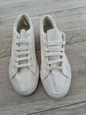£0.99 • Buy Ladies White Trainers Size 6