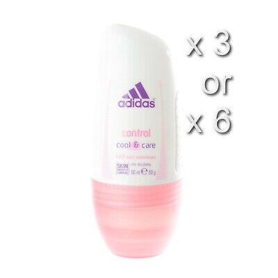 £12.49 • Buy Adidas Control Cool & Care Roll On Anti-perspirant Deodorant 50ml 3 Or 6 Pack