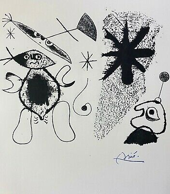 £88.53 • Buy Joan Miro Beautiful Signed 1958 Print From His Graphic Collection