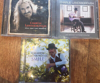 """£5.99 • Buy 3x Charlie Landsborough CD """"Smile"""" """"My Heart Would Know"""" """"Still Can't Say Good."""""""