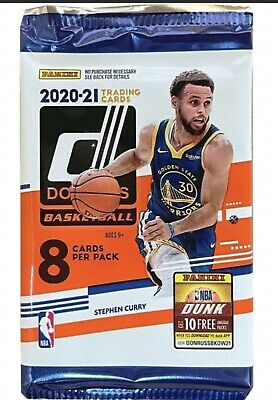 AU7.99 • Buy 2020-21 Panini Donruss Basketball NBA Trading Cards Booster 8 Pack - Brand New