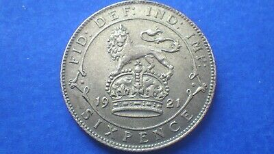 £8.85 • Buy  Lightly Circulated King George V 1921 Sixpence AUNC/gEF - Jwhitt60 Coins