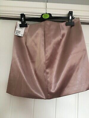 £1 • Buy Champagne Mini Skirt H&M Size 12 New With Tags