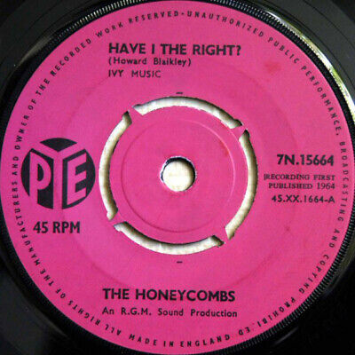 £8.60 • Buy The Honeycombs Have I The Right Vinyl 7 .1142.