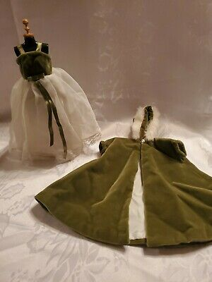 $ CDN14.57 • Buy Vintage Barbie Handmade Evening Dress And Jacket Green And Ivory