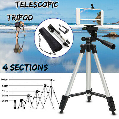AU11.39 • Buy Professional Camera Tripod Stand Mount & Phone Holder For IPhone For Samsung AU