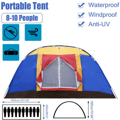 AU77.13 • Buy 8-10 Person Large Family Camping Tents Waterproof Hiking Beach Outdoor Tent 2021