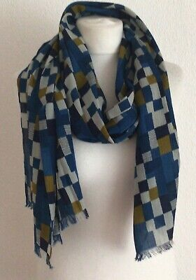£14.99 • Buy Seasalt Scarf 'linear Blocks Cobalt'  Lightweight One Size New With Tags
