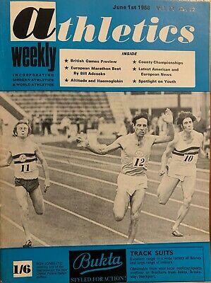 £3.99 • Buy ATHLETICS WEEKLY THE ATHLETES MAGAZINE June 1st 1968 Vol 22 No22 GOOD CONDITION