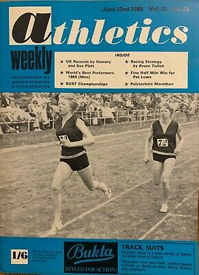 £3.99 • Buy ATHLETICS WEEKLY THE ATHLETES MAGAZINE June 22nd 1968 Vol 22 No25 GOOD CONDITION