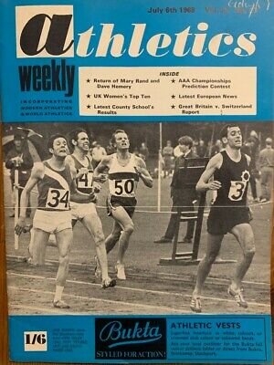 £3.99 • Buy ATHLETICS WEEKLY THE ATHLETES MAGAZINE July 6th 1968 Vol 22 No27 GOOD CONDITION
