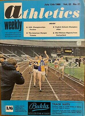 £3.99 • Buy ATHLETICS WEEKLY THE ATHLETES MAGAZINE July 13th 1968 Vol 22 No28 GOOD CONDITION