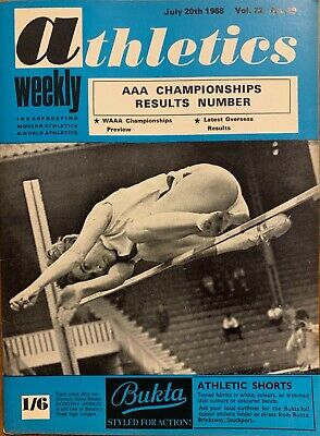 £3.99 • Buy ATHLETICS WEEKLY THE ATHLETES MAGAZINE July 20th 1968 Vol 22 No29 GOOD CONDITION