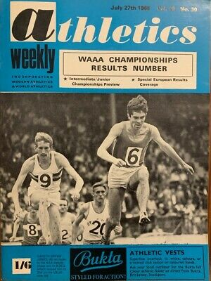 £3.99 • Buy ATHLETICS WEEKLY THE ATHLETES MAGAZINE July 27th 1968 Vol 22 No30 GOOD CONDITION