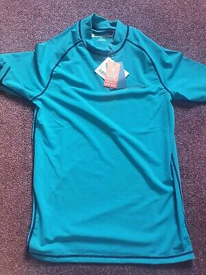 £12 • Buy BNWT Swimming Sports Top Turqouise Size Small 50 UV Protection RRP £25 - Bargain