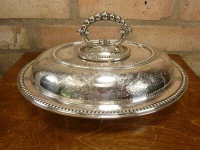 £29.99 • Buy Lovely Antique Oval John Round & Sons Serving Tureen Entree Dish Silver Plated