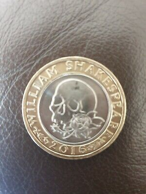 £175 • Buy Rare £2 Pound Coin William Shakespeare Macbeth Tragedies. Rose And Skull 2016