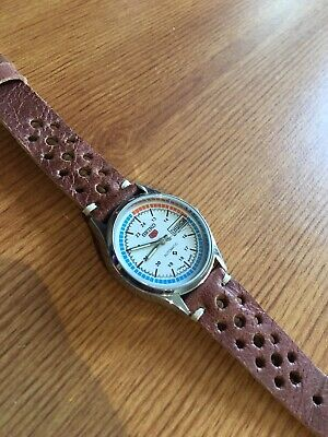 $ CDN42.89 • Buy Mens Seiko 5 Automatic Day Date Silver White Watch Leather Strap