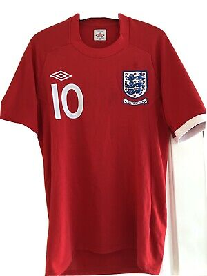 £10 • Buy Umbro England Shirt Away Red 2010/2011 36 Small World Cup South Africa Euros