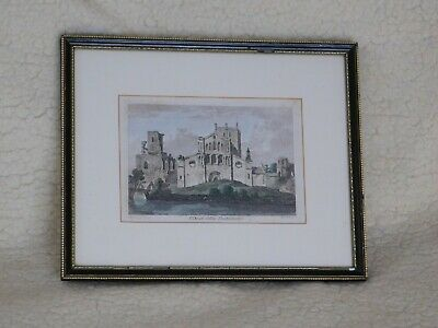 £60 • Buy 18th Century Hand-Coloured Engraving Of St David's College, Pembrokeshire