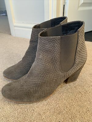 £15 • Buy White Stuff Leather Suede Snakeskin Grey Ankle Boots Size 6