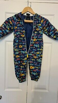 £3.20 • Buy Waterproof All In One Rainsuit Puddlesuit Age 3-4 Years