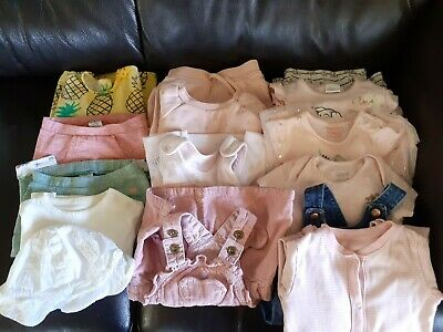 £8.99 • Buy Baby Girl Bundle 6-9 Months Next M&S F&F Blue Zoo 16 Items