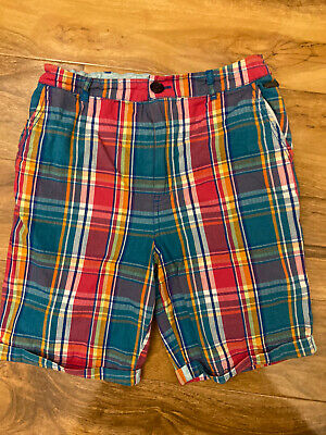 £3.99 • Buy Ted Baker Boys Smart Cotton Multi Colour Bright Check Chino Shorts Age 10 Years