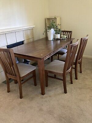 AU150 • Buy Must Go ASAP- Timber Dining Table -6 Seater Solid