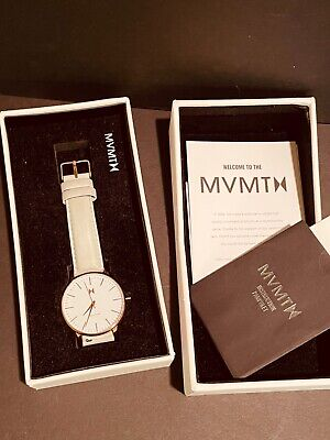 $ CDN78.95 • Buy MVMT Women's Beverly Watch Rose Gold White Face Gray Leather Band In Orig Box