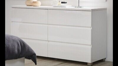 AU200 • Buy Dresser High Gloss White - 6 Draws - Pick Up From Donvale