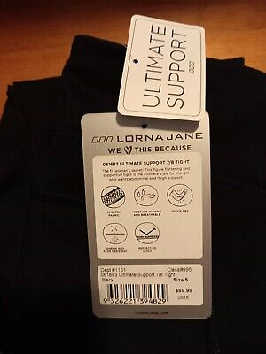 AU35 • Buy Lorna Jane , Active Wear ,Ultimate Support 7/8 Tight, Black ,Size Small
