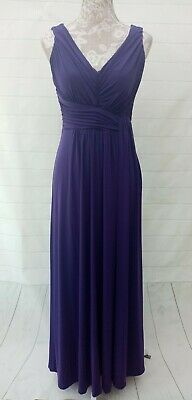 £29.99 • Buy Sangria Dress Maxi Evening Occasion Prom Size 8 Purple Grecian Style Sleeveless