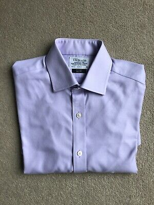 £5.95 • Buy TM Lewin Non Iron Lilac Slim Fit Double Cuff Shirt - 15.5  Neck 36  Sleeve