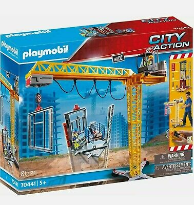 £72.90 • Buy Playmobil 70441 City Action Construction Crane With Remote Control RC