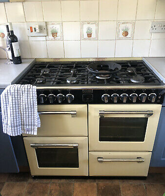 £100 • Buy Range Cooker Gas Stove Cream Country Kitchen 7 Ring- Disconnected Ready To Go