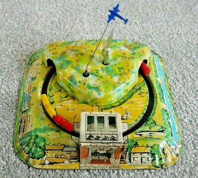 £44.95 • Buy VINTAGE METTOY TWIN TUNNEL TRAINS PLANE 1950's TINPLATE CLOCKWORK TOY RARE I797