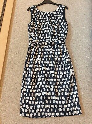 £1.99 • Buy Laura Ashley Ladies Navy Blue Patterned Summer Dress Size 8-10
