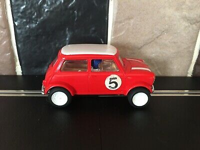 £9.99 • Buy Scalextric Mini Cooper Red With White Roof/Wheels