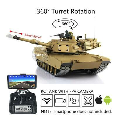 $359.09 • Buy US Stock 1/16 6.0 Henglong Upgraded M1A2 Abrams RTR RC Tank 3918 W/ 360° Turret