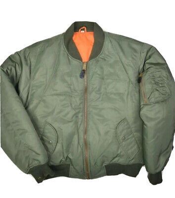 $58.82 • Buy United States Air Force Flyers Bomber Jacket Mens L Olive MA-1 Fox Military USAF