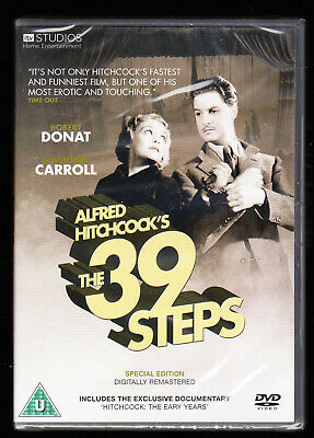 £3.75 • Buy The 39 Steps - Alfred Hitchcock, Robert Donat - Remastered - New & Sealed Dvd