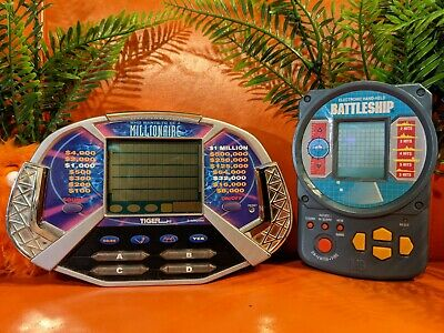 £12.78 • Buy Battleship & Who Wants To Be A Millionaire Tiger Handheld Game Electronic