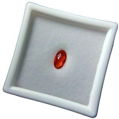 £39.63 • Buy AAA Mexican Orange Red Fire Opal Loose Gemstone Oval W/ Checkerboard 0.85 Ct.