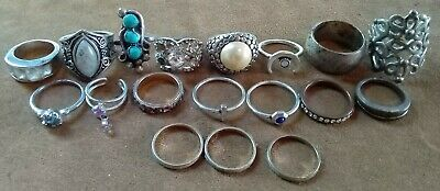 $ CDN11.57 • Buy Junk Drawer Jewelry Lot Of 18 Rings Vintage To Now