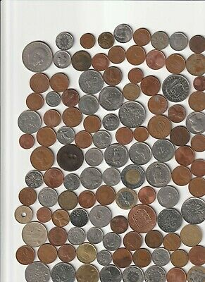 £5 • Buy ** Charity Collected Foreign Coins.  112 Coins In All.  Not Sorted . As Donated
